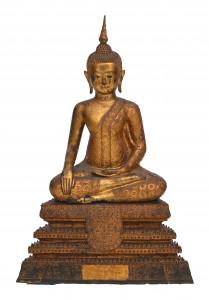 Een Ratanakosin verguld bronzen Boeddha Shakyamuni. Thailand, circa 1800.