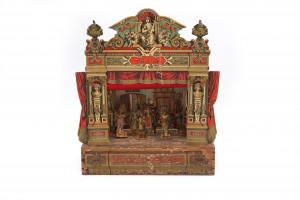 Een speelgoed theater 'Thalia'. Joseph Scholz, Mainz, Duitsland. ca. 1885