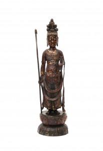 Een bronzen Guanyin met elf hoofden. 18/19e eeuw
