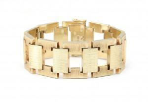 Een 14 krt gouden armband, jaren '50