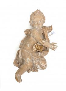 Een lindenhouten engel. 18e eeuw
