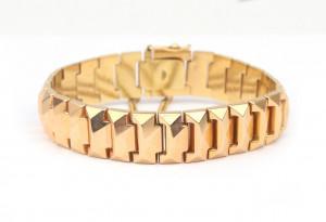 Een 18 krt gouden jaren '50 armband